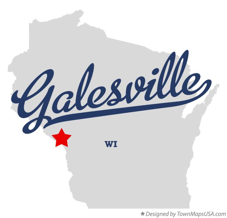 Map of Galesville Wisconsin WI