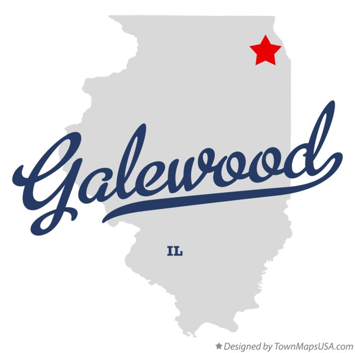 Map of Galewood Illinois IL