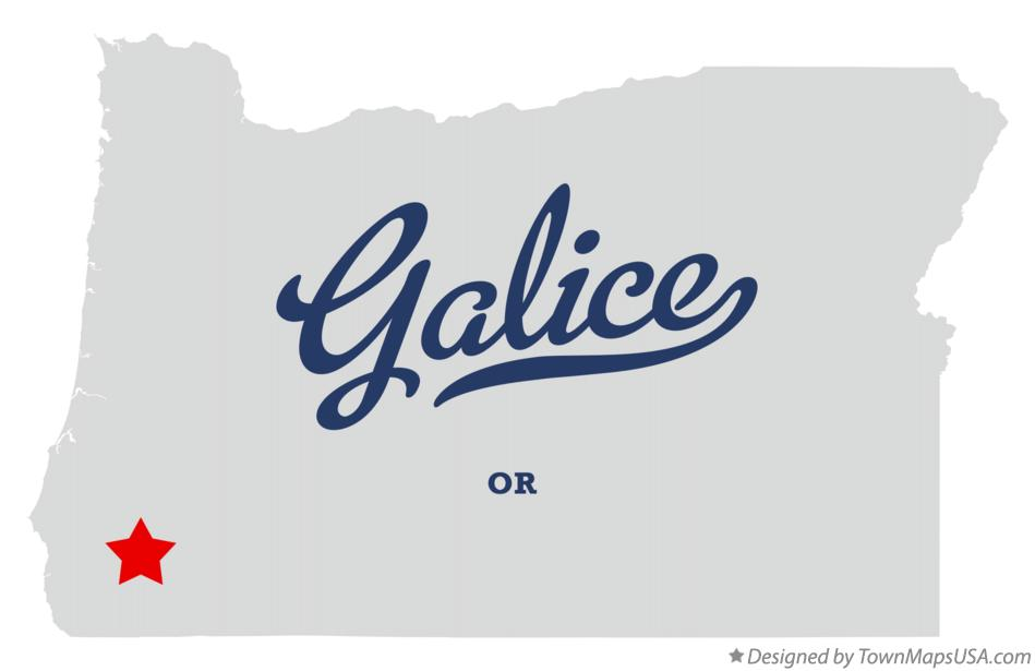 Map of Galice Oregon OR