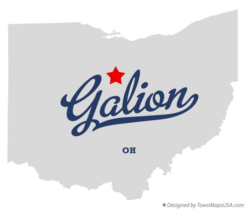 Map of Galion Ohio OH