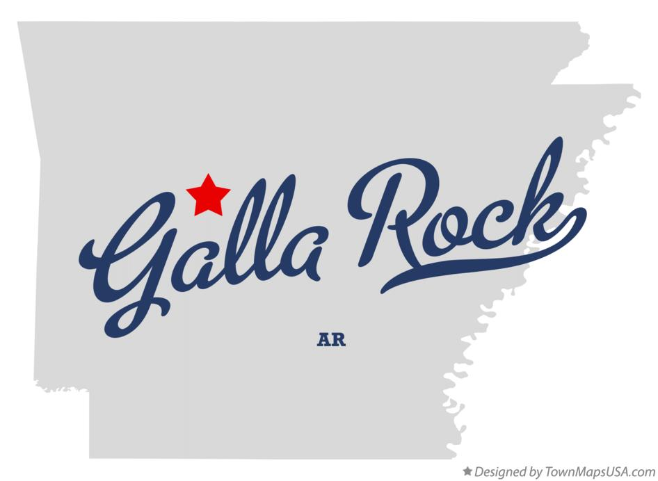 Map of Galla Rock Arkansas AR