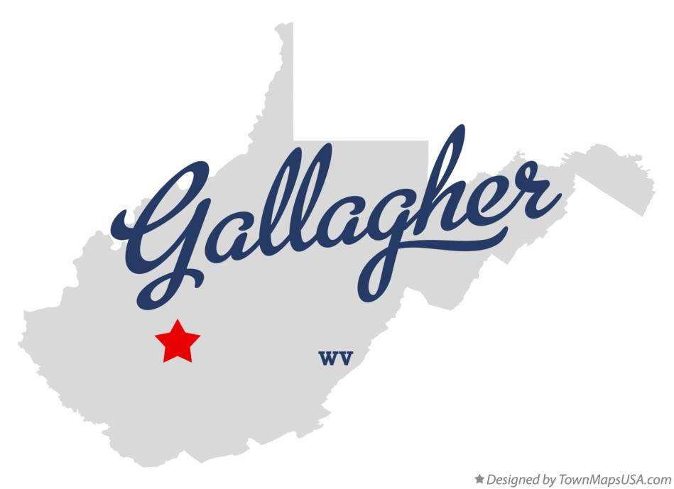 Map of Gallagher West Virginia WV