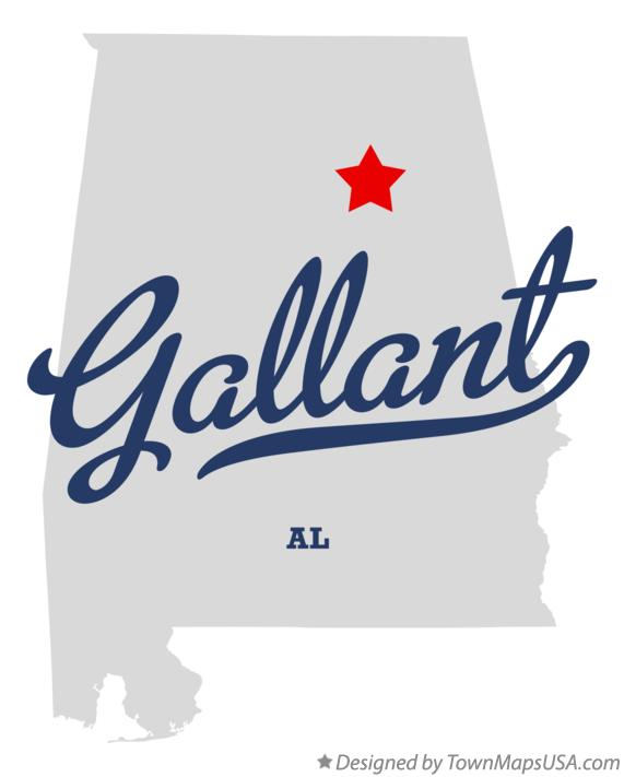Map of Gallant Alabama AL