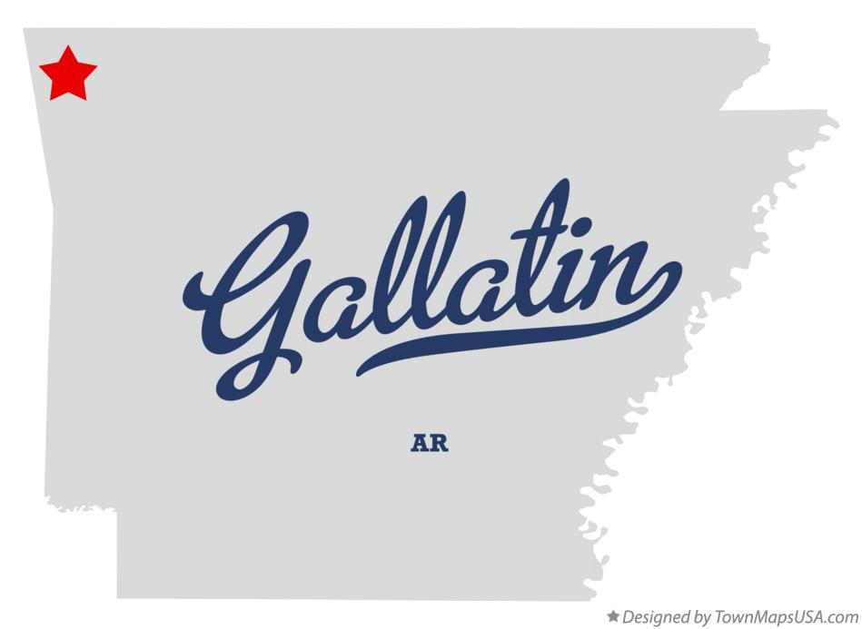 Map of Gallatin Arkansas AR