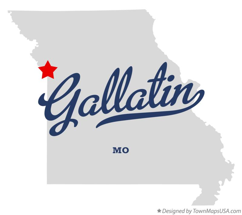 Map of Gallatin Missouri MO