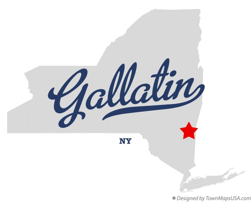 Map of Gallatin New York NY