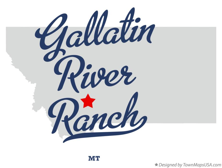 Map of Gallatin River Ranch Montana MT