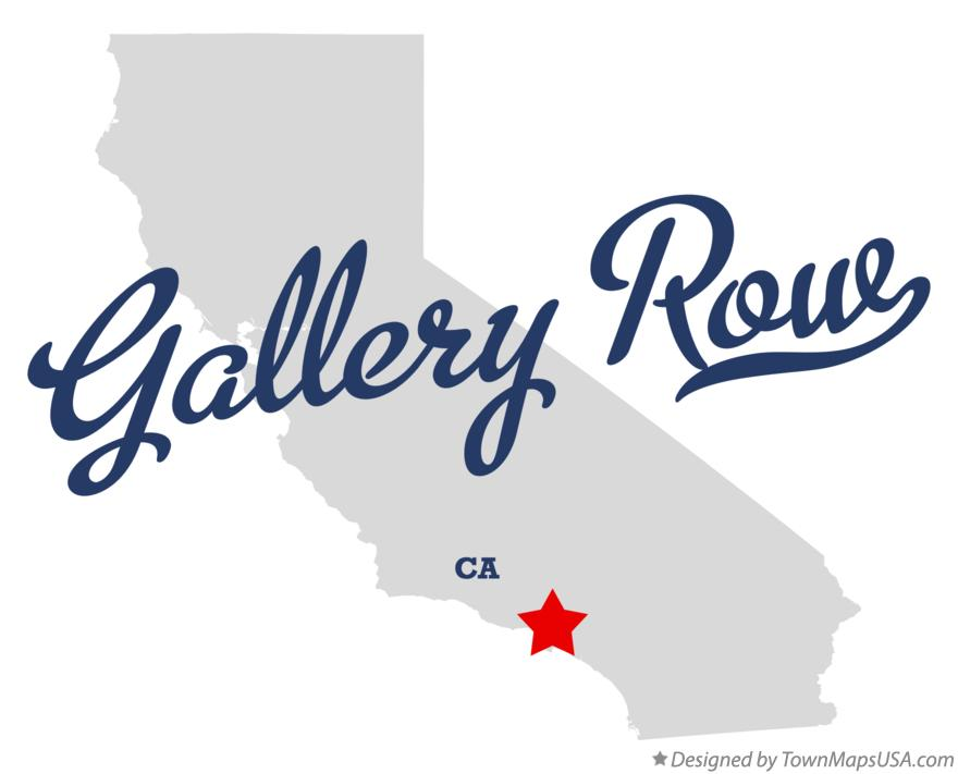 Map of Gallery Row California CA