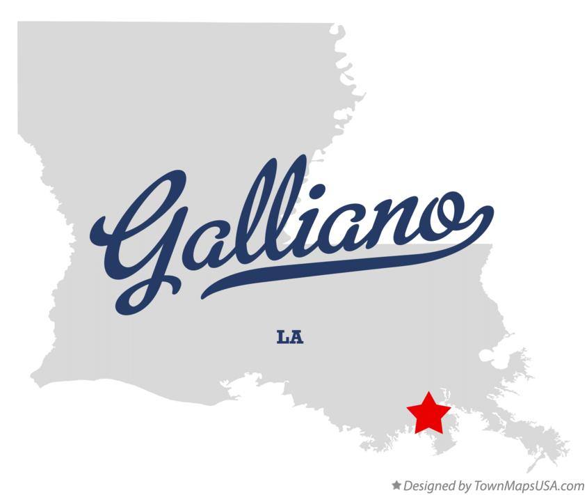 Map of Galliano Louisiana LA