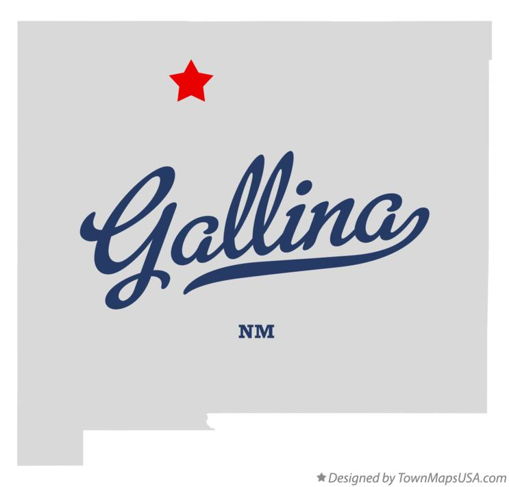 Map of Gallina New Mexico NM