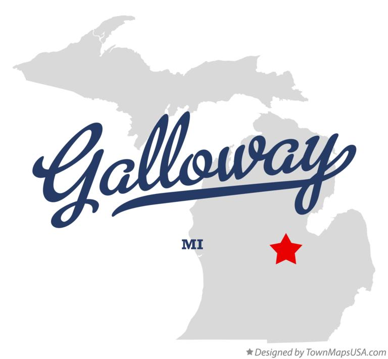 Map of Galloway Michigan MI