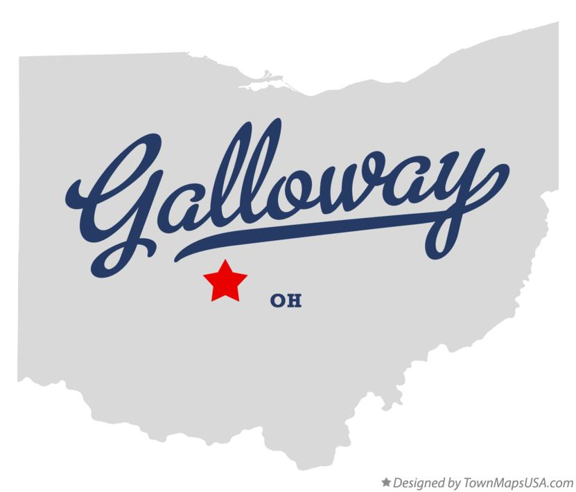 Map of Galloway Ohio OH
