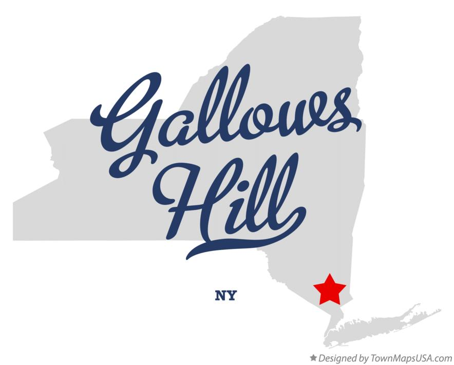 Map of Gallows Hill New York NY