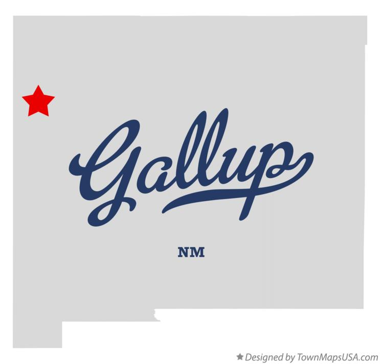 Map of Gallup New Mexico NM