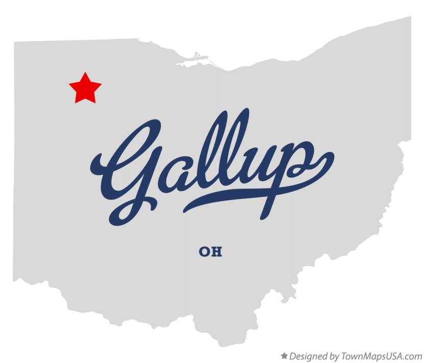 Map of Gallup Ohio OH