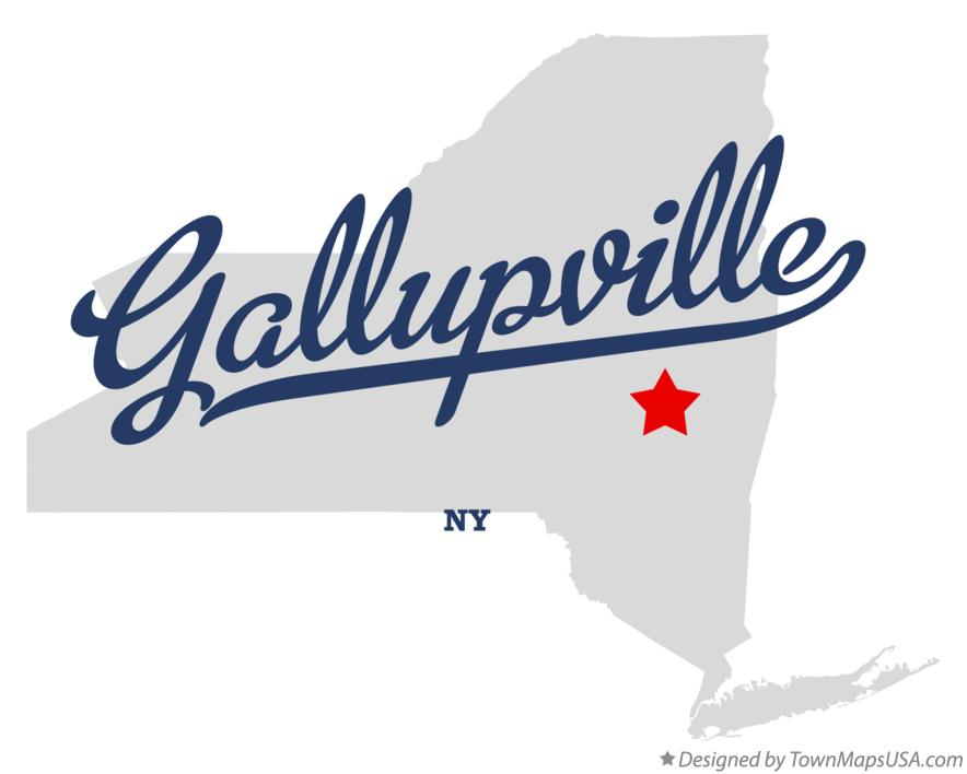 Map of Gallupville New York NY