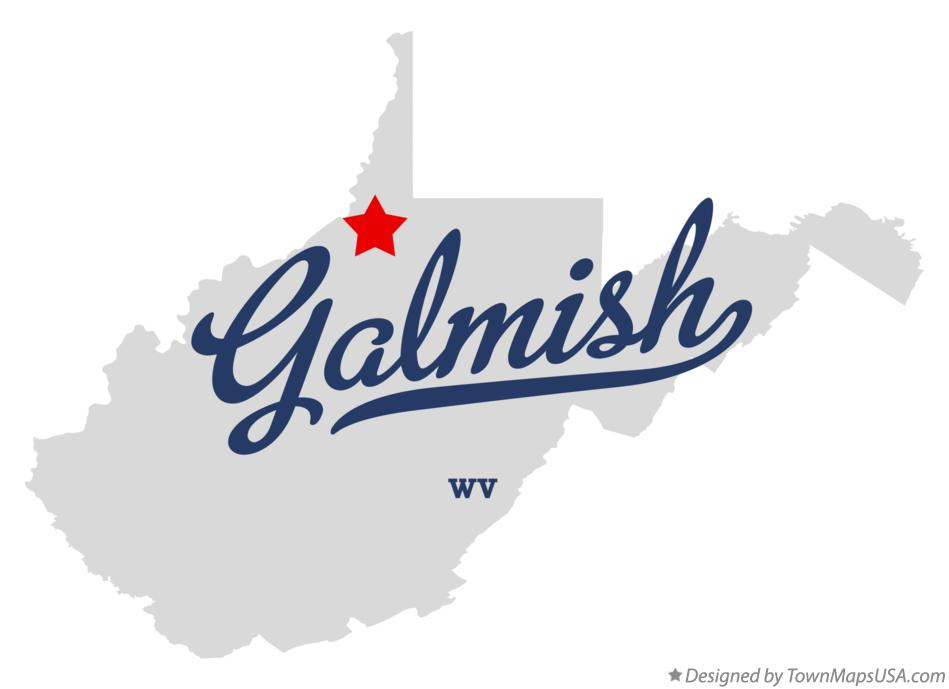 Map of Galmish West Virginia WV