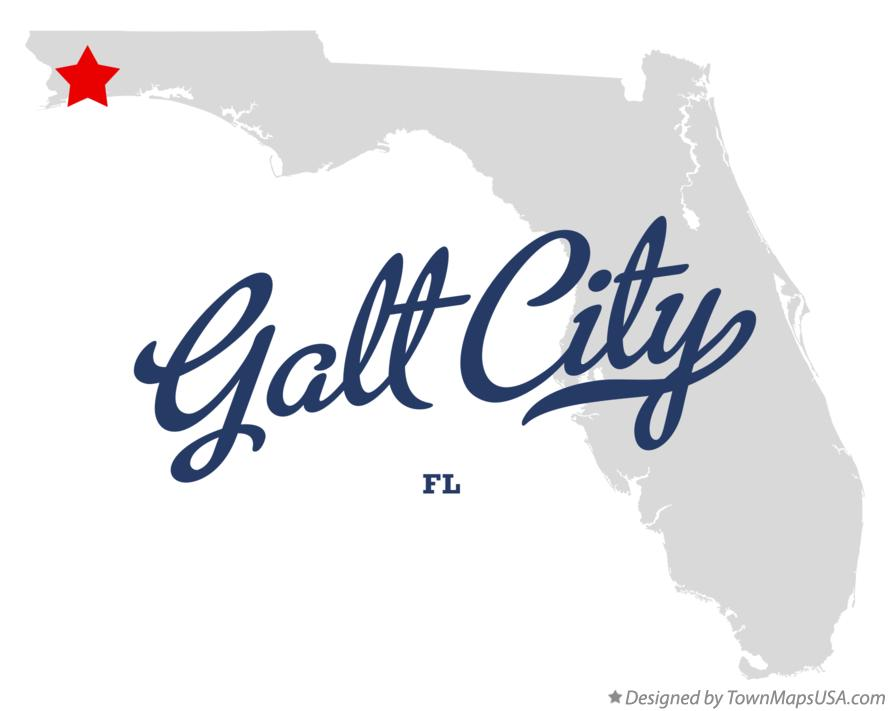 Map of Galt City Florida FL
