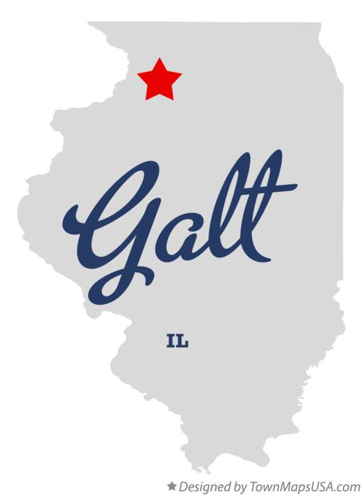 Map of Galt Illinois IL