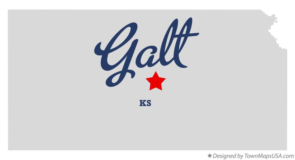 Map of Galt Kansas KS