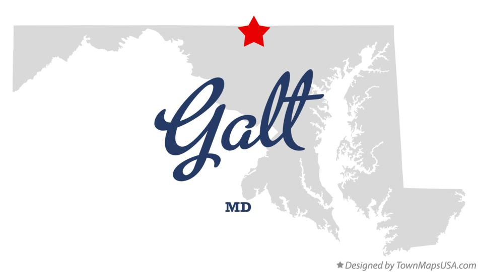 Map of Galt Maryland MD
