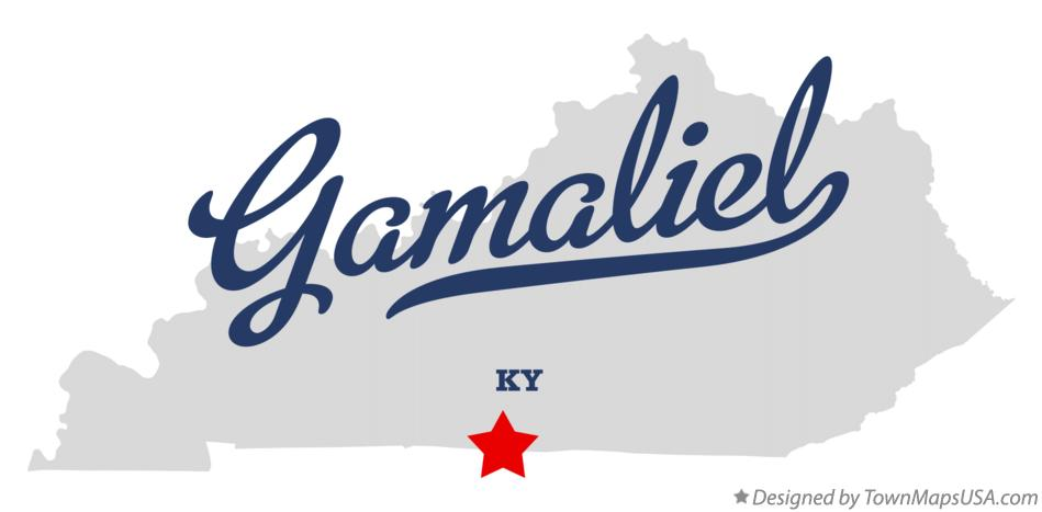 Map of Gamaliel Kentucky KY
