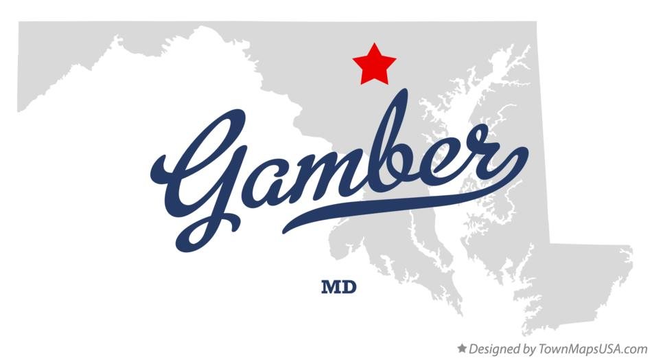 Map of Gamber Maryland MD