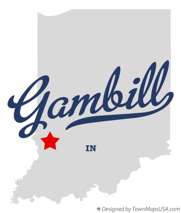 Map of Gambill Indiana IN