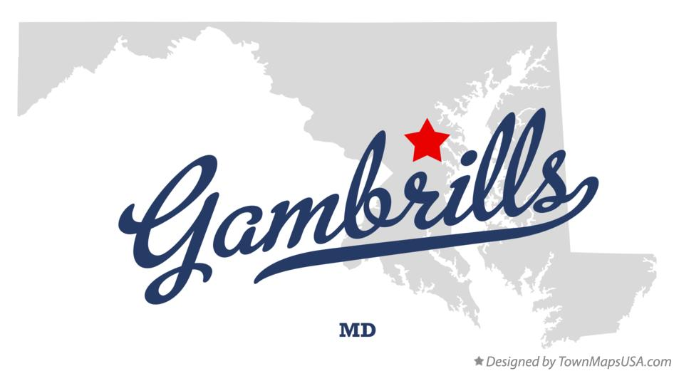 Map of Gambrills Maryland MD