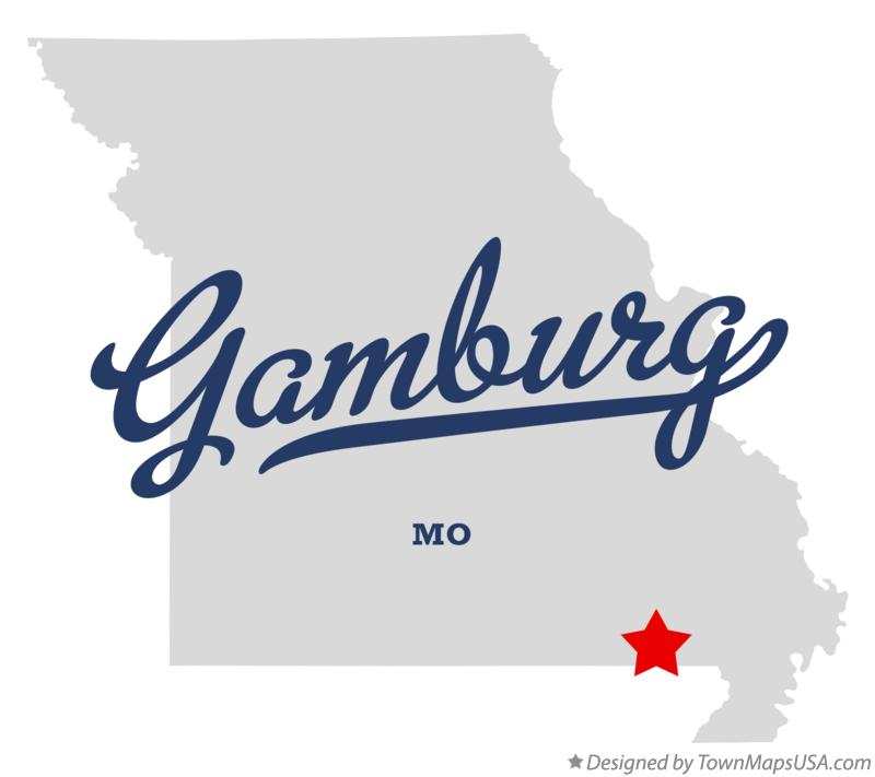 Map of Gamburg Missouri MO