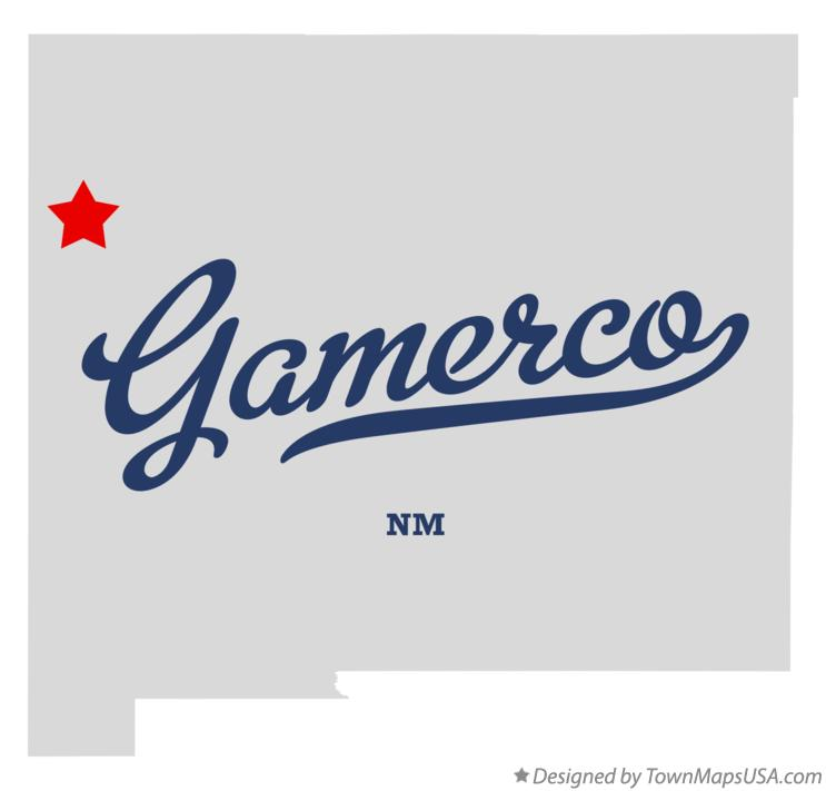 Map of Gamerco New Mexico NM
