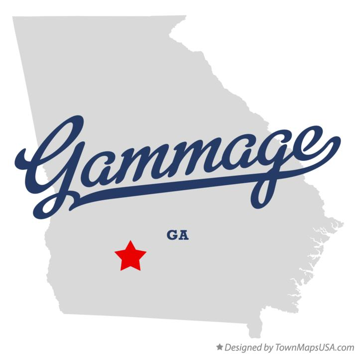 Map of Gammage Georgia GA