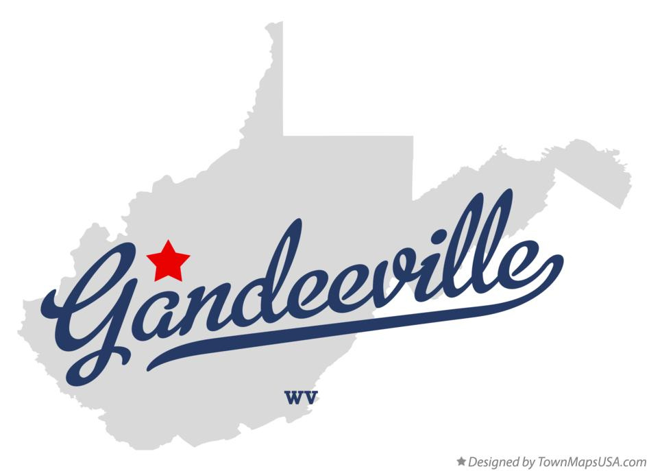 Map of Gandeeville West Virginia WV