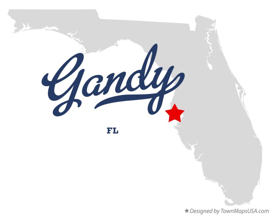 Map of Gandy Florida FL