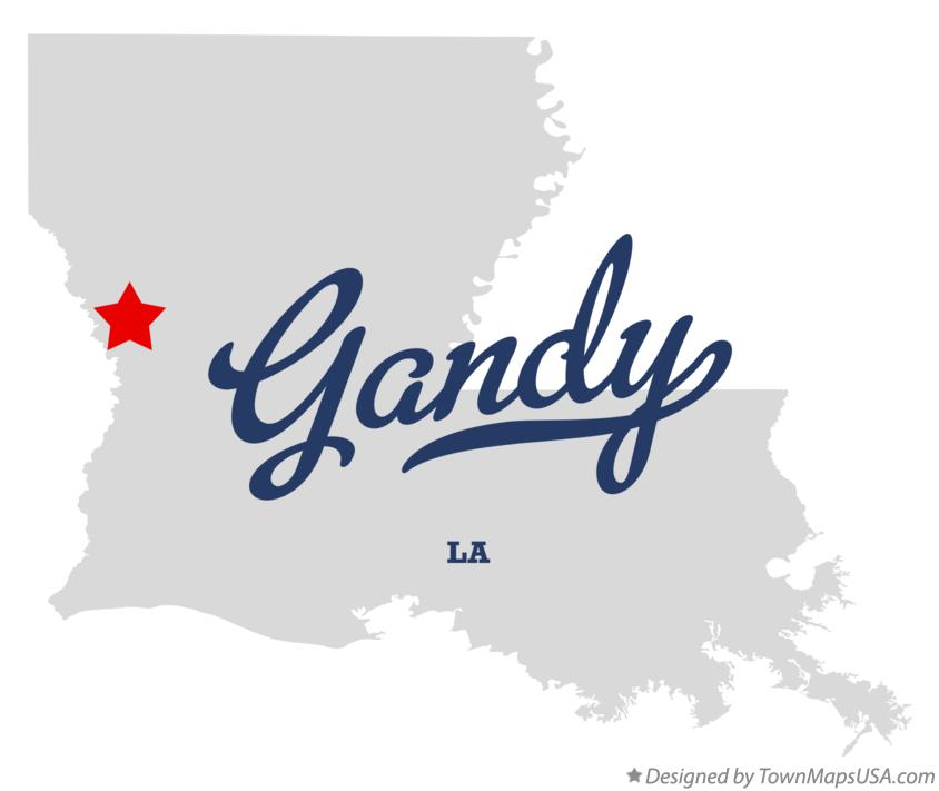 Map of Gandy Louisiana LA