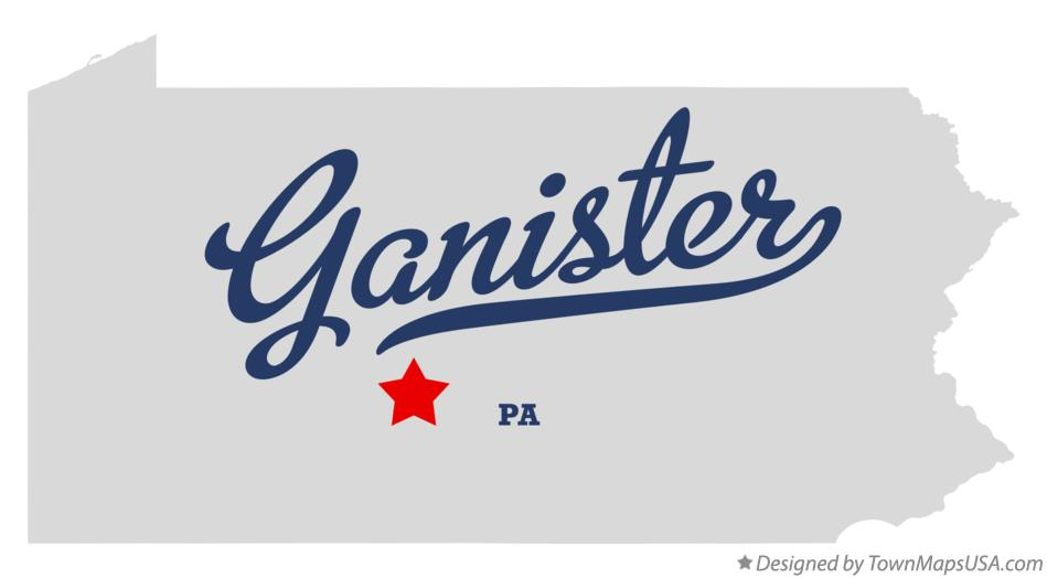 Map of Ganister Pennsylvania PA