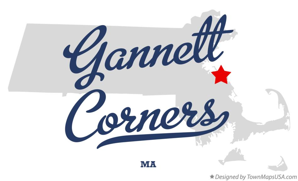 Map of Gannett Corners Massachusetts MA