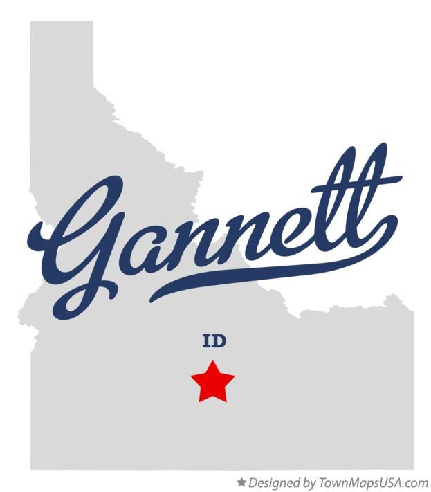 Map of Gannett Idaho ID