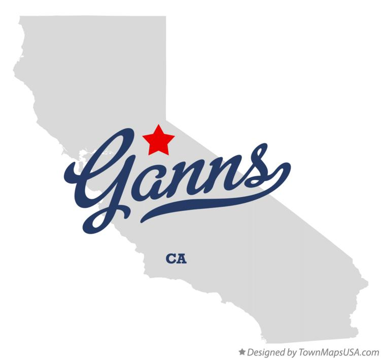 Map of Ganns California CA
