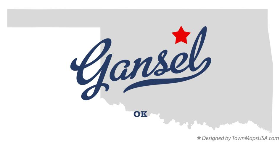 Map of Gansel Oklahoma OK