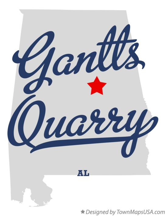 Map of Gantts Quarry Alabama AL