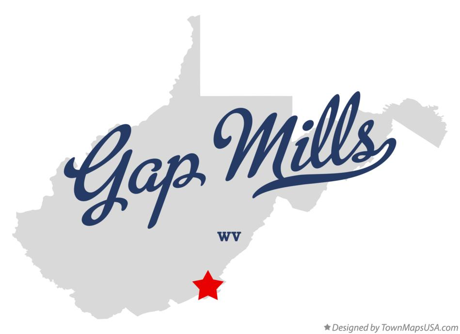 Map of Gap Mills West Virginia WV