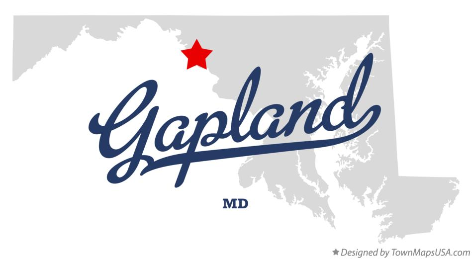 Map of Gapland Maryland MD