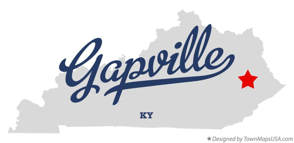 Map of Gapville Kentucky KY
