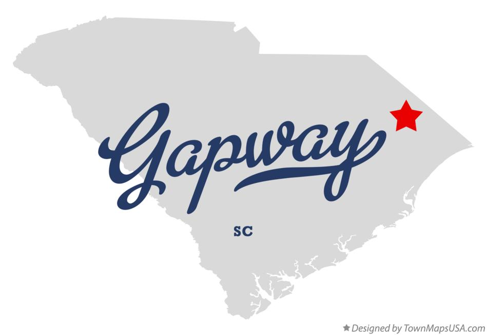Map of Gapway South Carolina SC