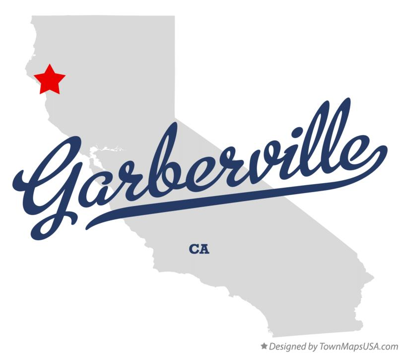 Map of Garberville California CA