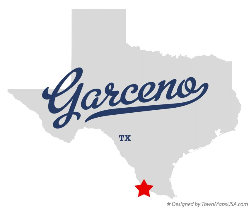 Map of Garceno Texas TX