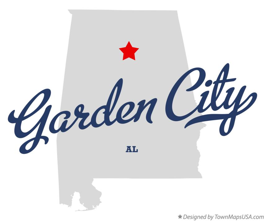 Map of Garden City Alabama AL