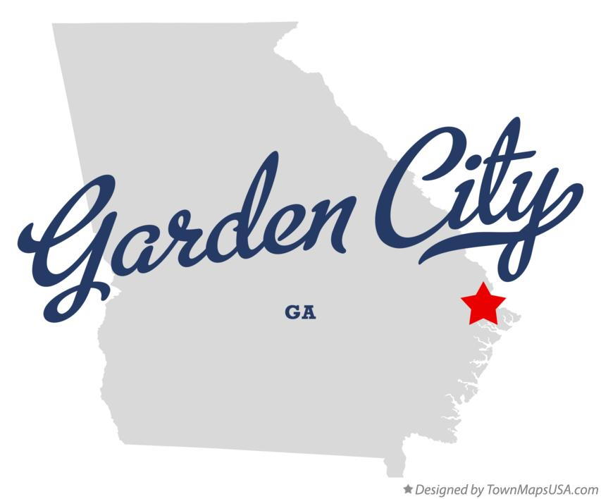 Map of Garden City Georgia GA