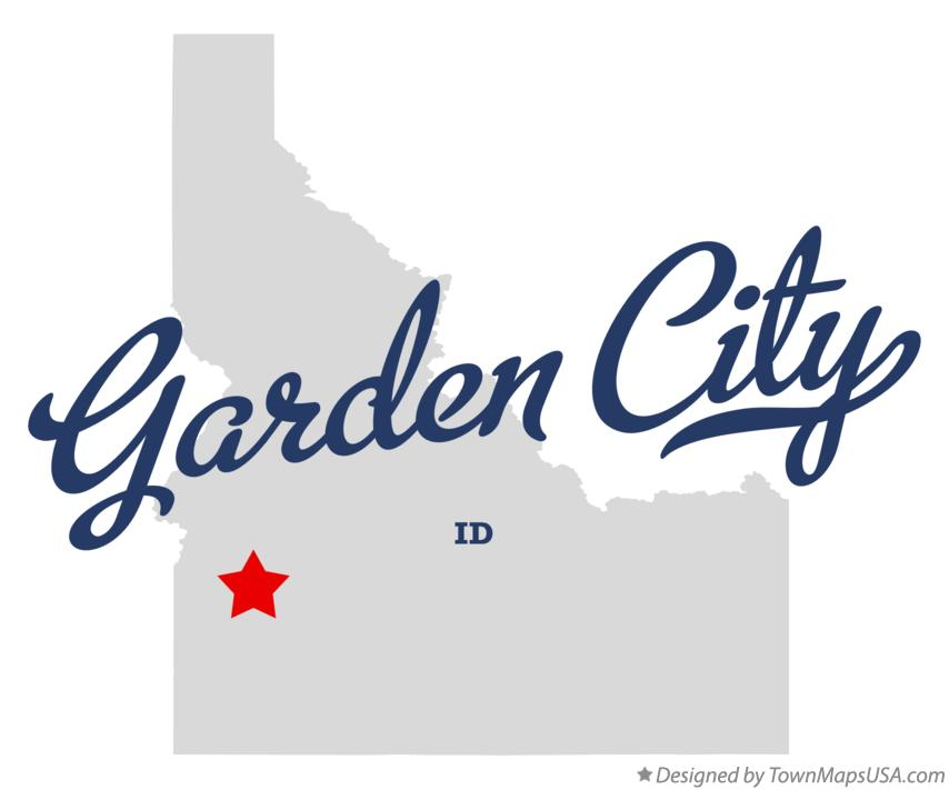 Map of Garden City Idaho ID